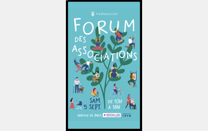 05 Sep: Forum des associations de Versailles - STAND D24